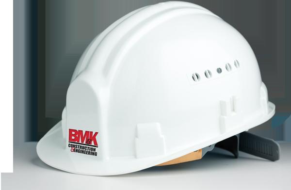 BM and K hard hat